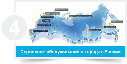 По городах России